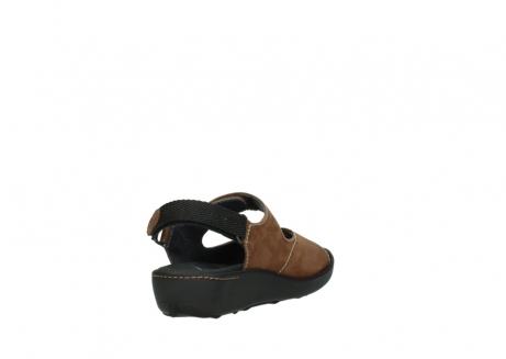 wolky sandalen 1350 lin 131 middenbruin nubuck_9