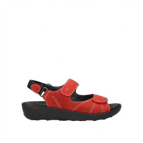 wolky sandalen 1350 lin 150 rood nubuck