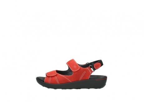 wolky sandalen 1350 lin 150 rood nubuck_1