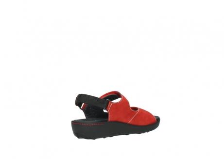 wolky sandalen 1350 lin 150 rood nubuck_10