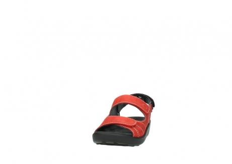 wolky sandalen 1350 lin 150 rood nubuck_20