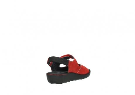 wolky sandalen 1350 lin 150 rood nubuck_9