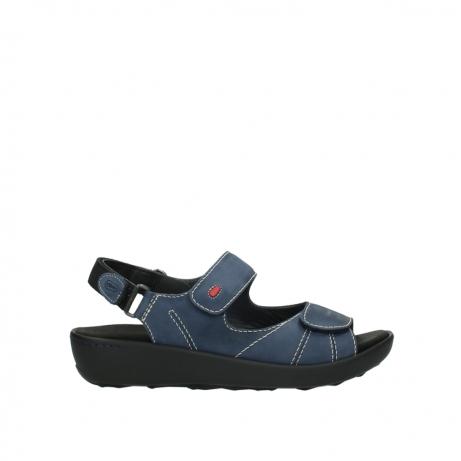 wolky sandalen 1350 lin 182 denim blauw nubuck