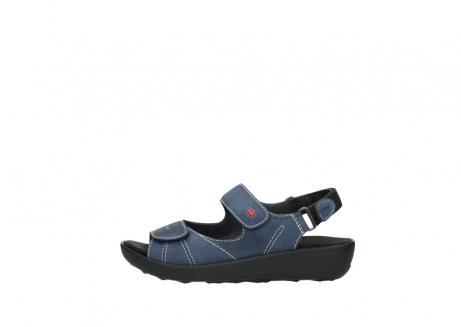 wolky sandalen 1350 lin 182 denim blauw nubuck_1