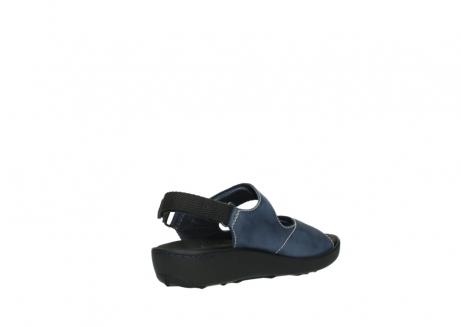 wolky sandalen 1350 lin 182 denim blauw nubuck_10
