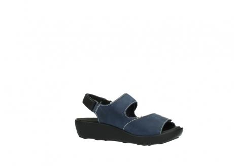 wolky sandalen 1350 lin 182 denim blauw nubuck_15