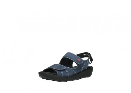 wolky sandalen 1350 lin 182 denim blauw nubuck_22