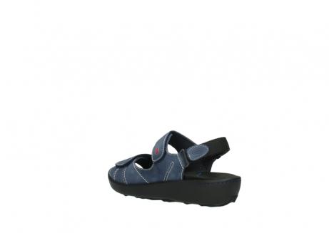 wolky sandalen 1350 lin 182 denim blauw nubuck_4