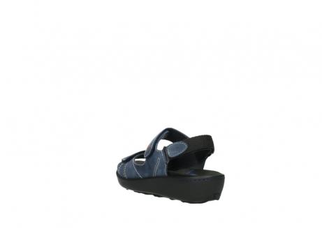 wolky sandalen 1350 lin 182 denim blauw nubuck_5