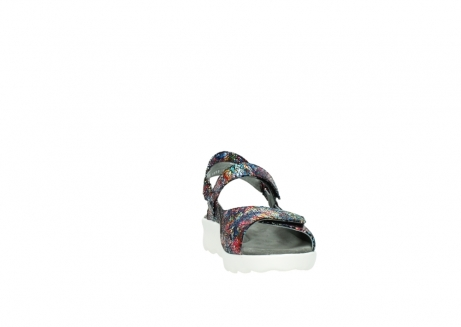 wolky sandalen 1890 pitchu 997 multi color craquele leer_18