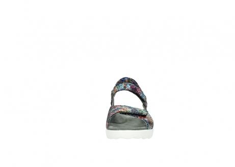wolky sandalen 1890 pitchu 997 multi color craquele leer_19
