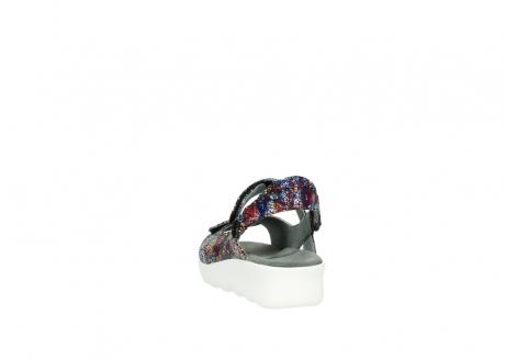 wolky sandalen 1890 pitchu 997 multi color craquele leer_6