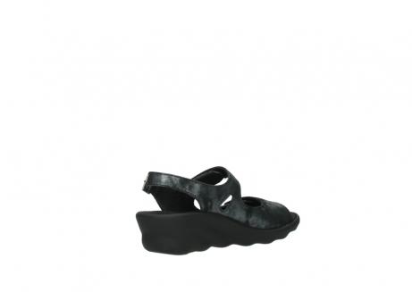 wolky sandalen 3125 scala 100 zwart antraciet geborsteld nubuck_10