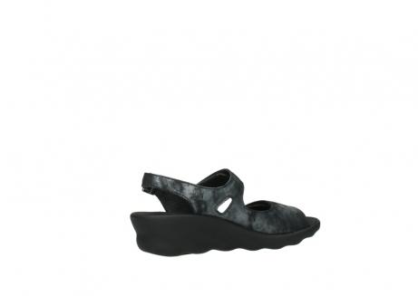 wolky sandalen 3125 scala 100 zwart antraciet geborsteld nubuck_11