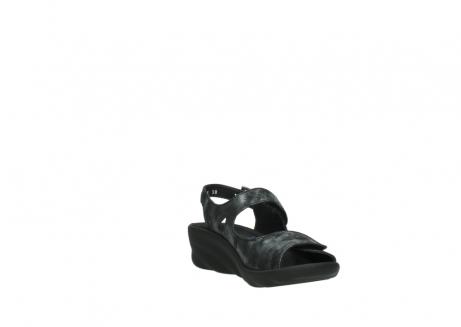 wolky sandalen 3125 scala 100 zwart antraciet geborsteld nubuck_17