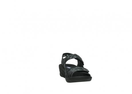 wolky sandalen 3125 scala 100 zwart antraciet geborsteld nubuck_18