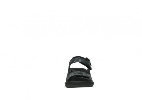 wolky sandalen 3125 scala 100 zwart antraciet geborsteld nubuck_19