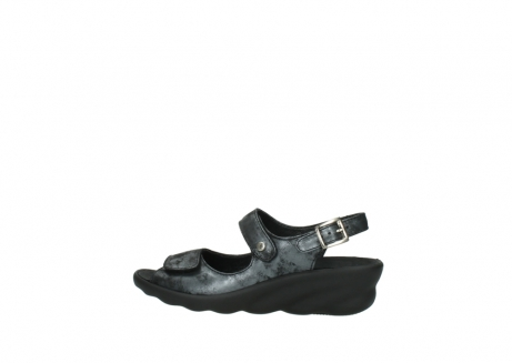 wolky sandalen 3125 scala 100 zwart antraciet geborsteld nubuck_2