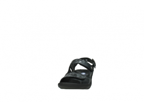 wolky sandalen 3125 scala 100 zwart antraciet geborsteld nubuck_20