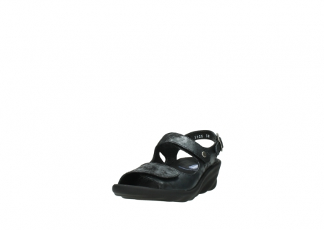 wolky sandalen 3125 scala 100 zwart antraciet geborsteld nubuck_21