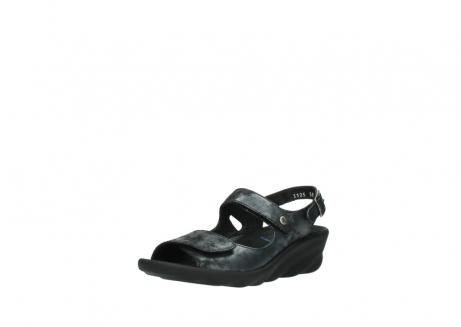 wolky sandalen 3125 scala 100 zwart antraciet geborsteld nubuck_22