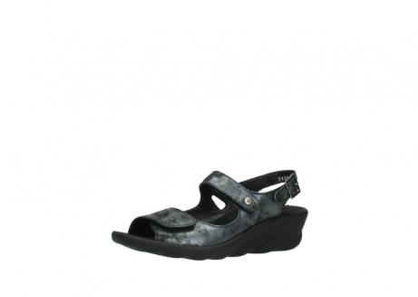 wolky sandalen 3125 scala 100 zwart antraciet geborsteld nubuck_23