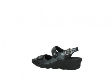 wolky sandalen 3125 scala 100 zwart antraciet geborsteld nubuck_3