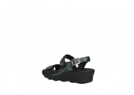 wolky sandalen 3125 scala 100 zwart antraciet geborsteld nubuck_4