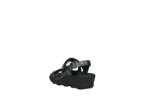 wolky sandalen 3125 scala 100 zwart antraciet geborsteld nubuck_5