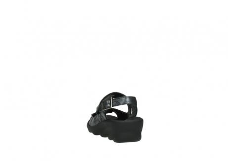 wolky sandalen 3125 scala 100 zwart antraciet geborsteld nubuck_6