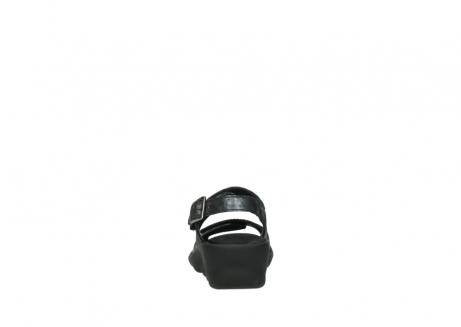 wolky sandalen 3125 scala 100 zwart antraciet geborsteld nubuck_7