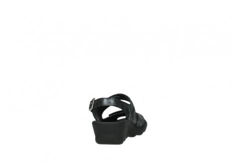 wolky sandalen 3125 scala 100 zwart antraciet geborsteld nubuck_8