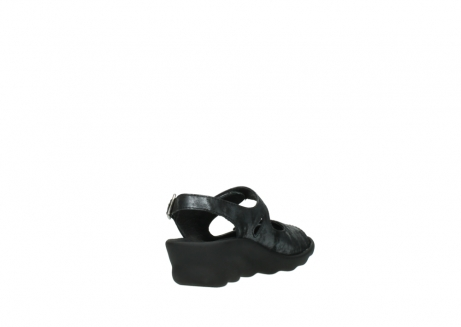 wolky sandalen 3125 scala 100 zwart antraciet geborsteld nubuck_9
