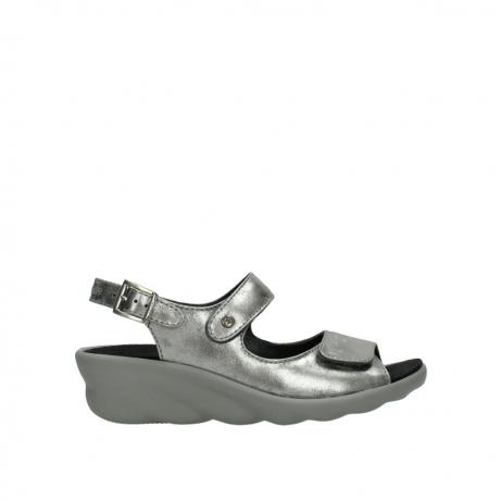 wolky sandalen 3125 scala 120 grijs zilver nubuck