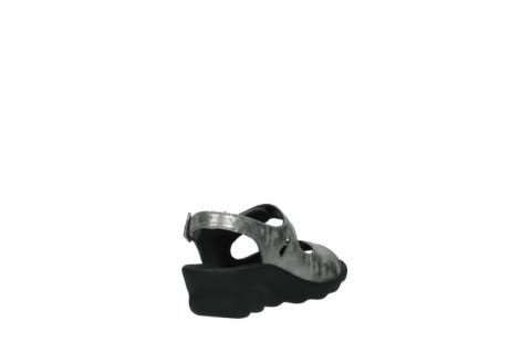 wolky sandalen 3125 scala 120 grijs zilver nubuck_9