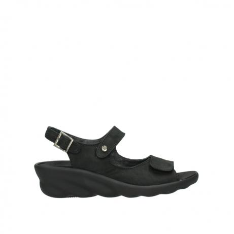wolky sandalen 3125 scala 900 zwart nubuck