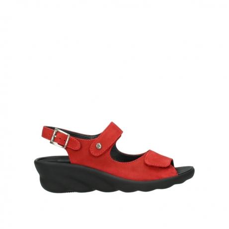 wolky sandalen 3125 scala 950 rood nubuck