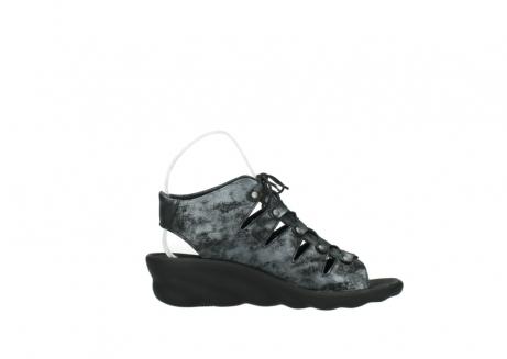 wolky sandalen 3126 arena 100 zwart antraciet geborsteld nubuck_13
