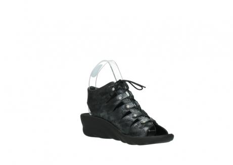 wolky sandalen 3126 arena 100 zwart antraciet geborsteld nubuck_16