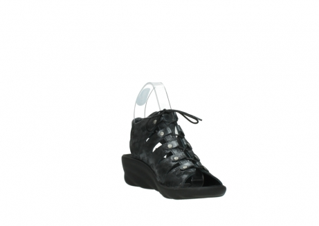 wolky sandalen 3126 arena 100 zwart antraciet geborsteld nubuck_17