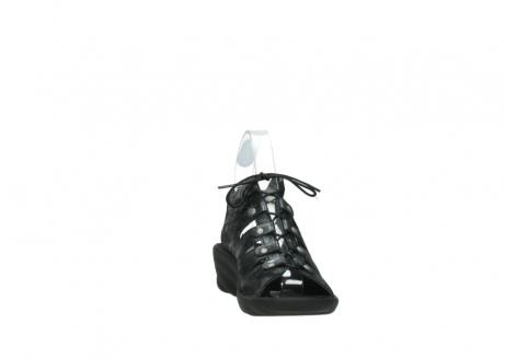wolky sandalen 3126 arena 100 zwart antraciet geborsteld nubuck_18