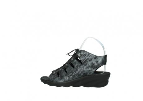 wolky sandalen 3126 arena 100 zwart antraciet geborsteld nubuck_2