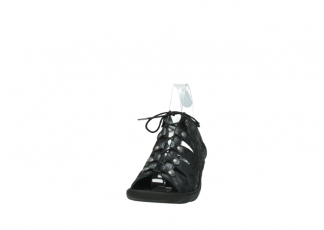 wolky sandalen 3126 arena 100 zwart antraciet geborsteld nubuck_20