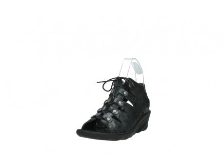 wolky sandalen 3126 arena 100 zwart antraciet geborsteld nubuck_21