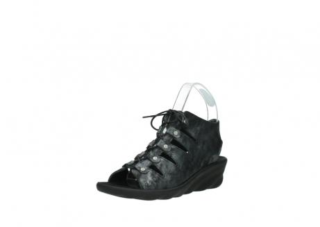 wolky sandalen 3126 arena 100 zwart antraciet geborsteld nubuck_22