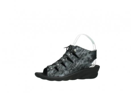 wolky sandalen 3126 arena 100 zwart antraciet geborsteld nubuck_24