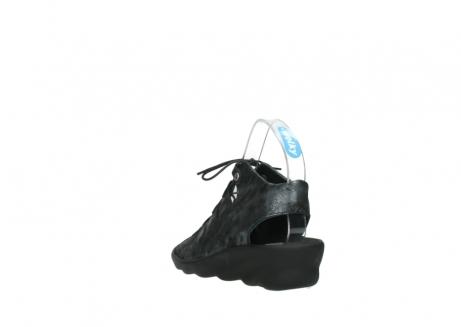 wolky sandalen 3126 arena 100 zwart antraciet geborsteld nubuck_5