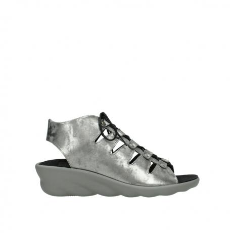 wolky sandalen 3126 arena 120 grijs zilver nubuck