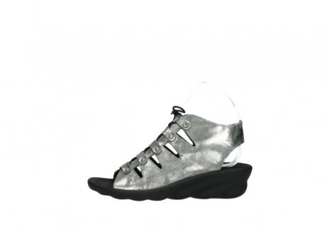 wolky sandalen 3126 arena 120 grijs zilver nubuck_1
