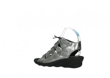 wolky sandalen 3126 arena 120 grijs zilver nubuck_3